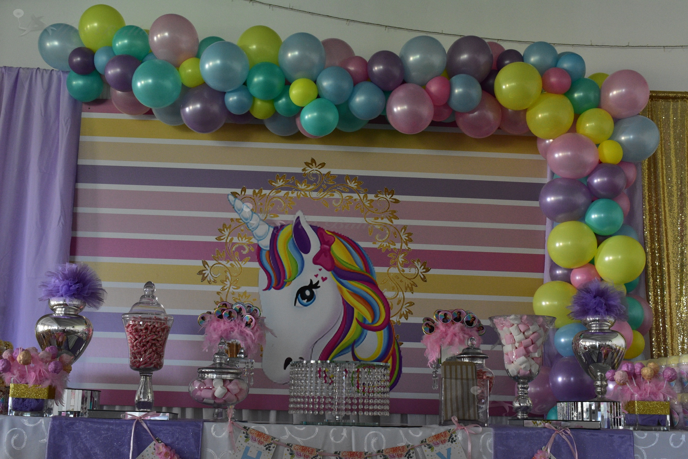 Unicorn Theme Organic Balloon Garland