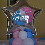 He or She Table Centrepiece Baby Shower